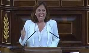 La diputada Beatriz Escudero durante su defensa de la Ley del aborto. http://niagarank.es